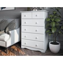 See Details - 5361 - 100% Solid Wood 6-Drawer Chest- White