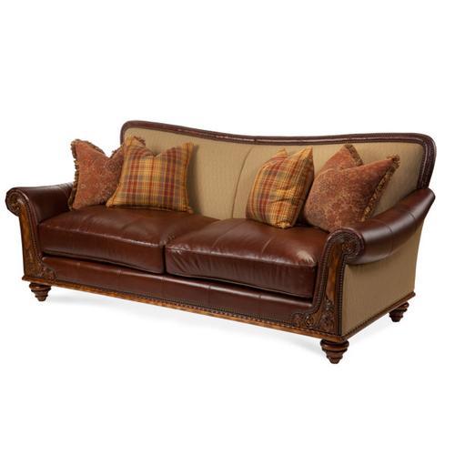 Fabric/Leather Sofa