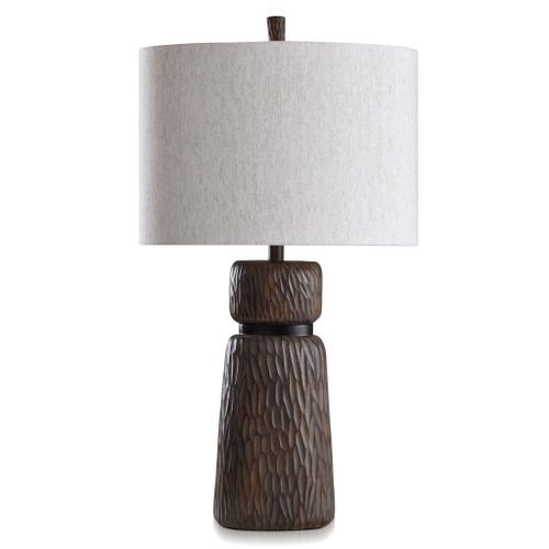Product Image - ROANOKE & DUNBROOK  33in ht X 18in w X 18in d  Casual Table Lamp with Chestnut & Dark Coffee Fi