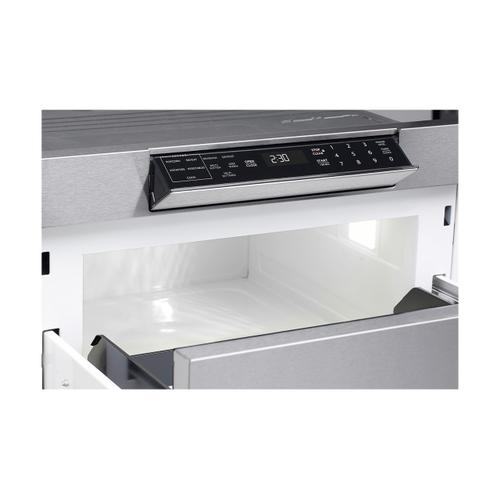 Sharp - 30 in. 1.2 cu. ft. 950W Sharp Stainless Steel Microwave Drawer Oven