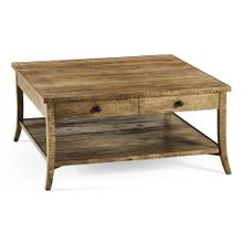 Square Coffee Table in Medium Driftwood