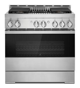 """NOIR™ 36"""" Gas Professional-Style Range with Grill"""