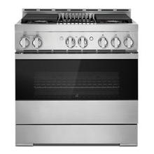 """See Details - NOIR™ 36"""" Gas Professional-Style Range with Grill"""