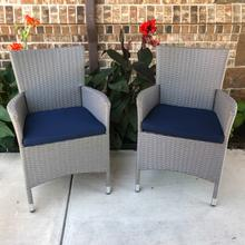 View Product - Bentana Resin Wicker/Steel Armchairs with Cushions (Set of 2)