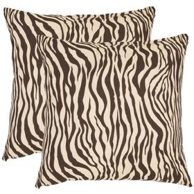 Zebra Pillow - Brown