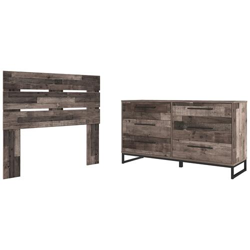 Gallery - Full Panel Headboard With Dresser