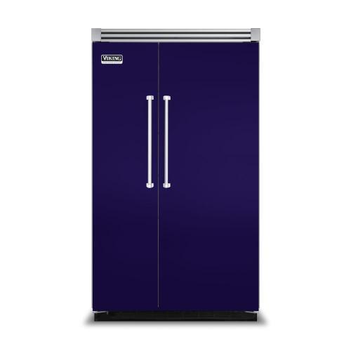 """Viking - Cobalt Blue 48"""" Side-by-Side Refrigerator/Freezer - VISB (Integrated Installation)"""