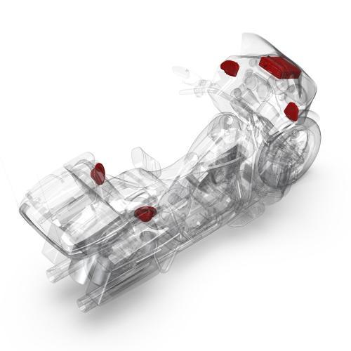 Rockford Fosgate - 1998-2013 Harley-Davidson® Road Glide® Ultra Source Unit & 4 Speakers Kit