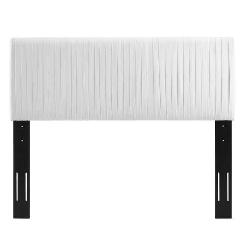 Eloise Channel Tufted Performance Velvet Twin Headboard in White
