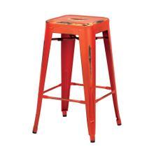 "See Details - Bristow 26"" Antique Metal Barstool, Antique Orange Finish, 4 Pack"