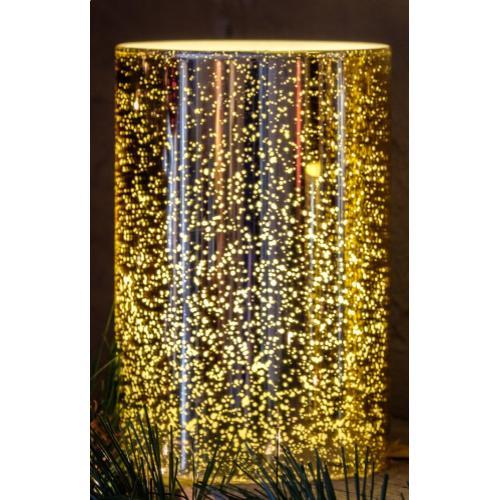 """6"""" Gold Shimmer LED Candle"""