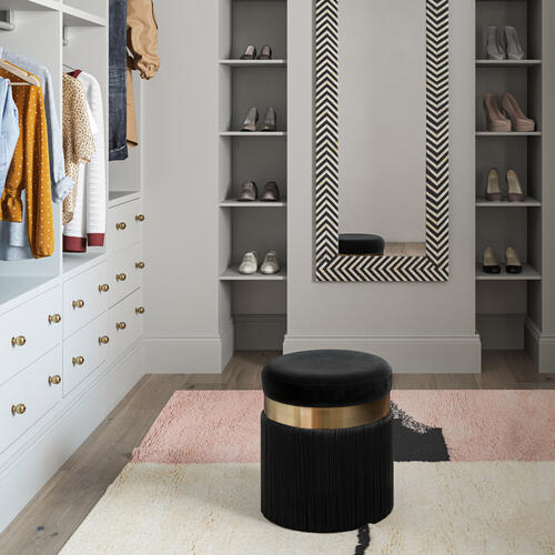 Product Image - Melody Black Tasseled Ottoman