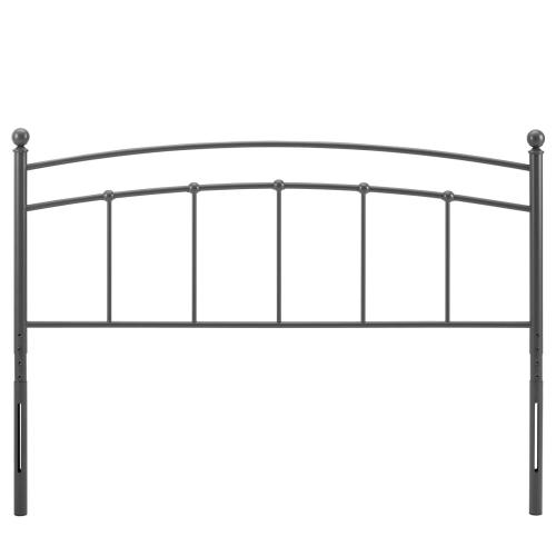 Abigail King Metal Headboard in Gray