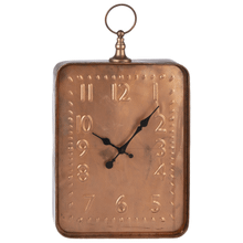 See Details - Antique Copper Finish Embossed Wall Clock