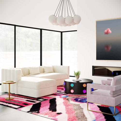 Tov Furniture - Callie Cream Velvet Sectional - LAF
