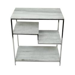 Naples Manor Marble Offset Console