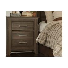 Juararo Two Drawer Night Stand Dark Brown