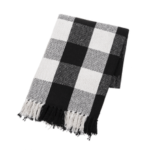 Black & White Buffalo Plaid Throw