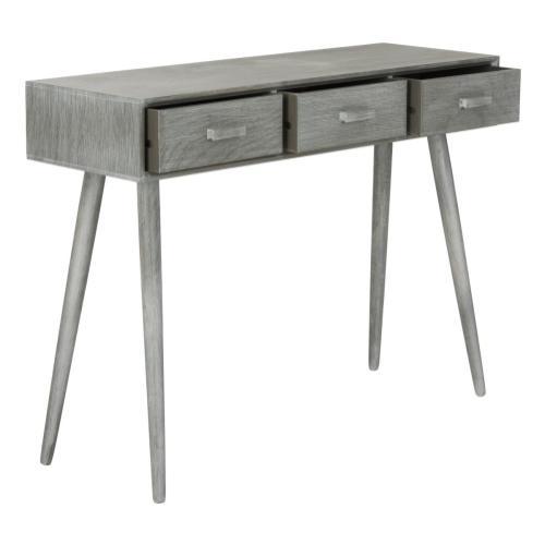 Safavieh - Albus 3 Drawer Console Table - Slate Grey