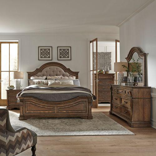 Opt Queen Panel Bed, Dresser & Mirror, Chest, Night Stand