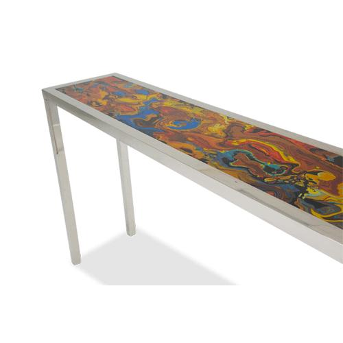 Mystique Console Table Silver