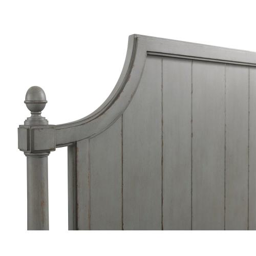 Bella Grigio - Queen Panel Headboard - Chipped Gray Finish