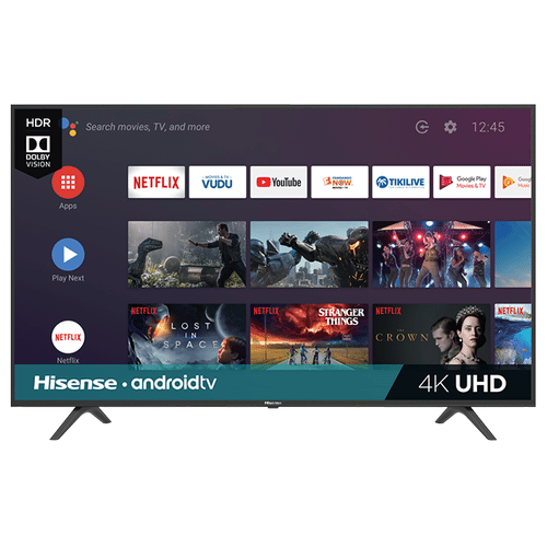 """Product Image - 43"""" Class - H6590 Series - 4K UHD Hisense Android Smart TV (2019) SUPPORT"""