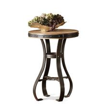 View Product - Sherborne Round Accessory Table Toasted Pecan finish