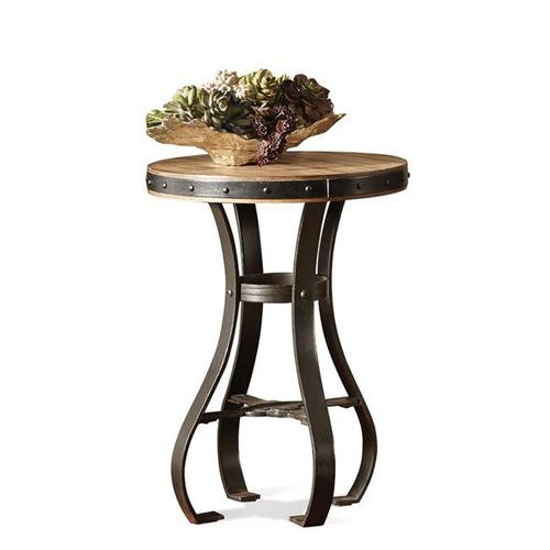Riverside - Sherborne Round Accessory Table Toasted Pecan finish