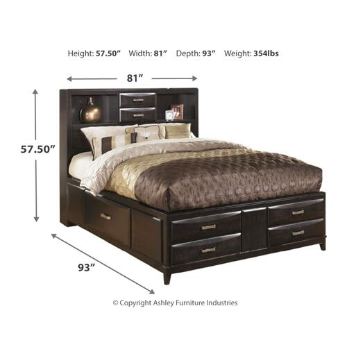 Kira King Storage Bed With 8 Drawers