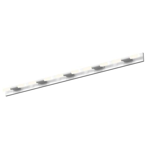 Sonneman - A Way of Light - Crystal Rods LED Bath Bar [Size=10-Light, Color/Finish=Satin White w/Frosted White]