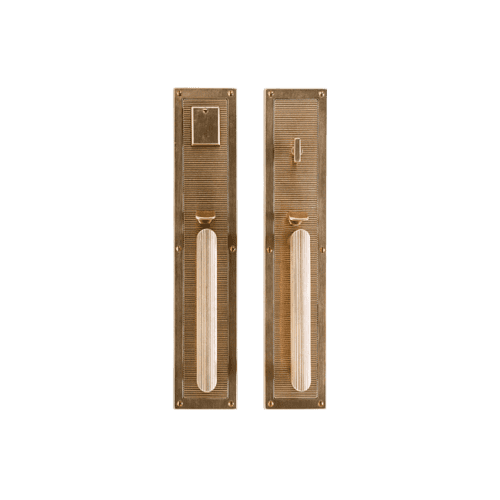 "Rocky Mountain Hardware - Flute Entry Set - 3 1/2"" x 18"" White Bronze Dark"