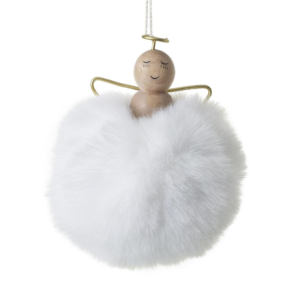 """See Details - Angel Puff Ornament (Size:3"""" x 3.5"""", Color:White)"""