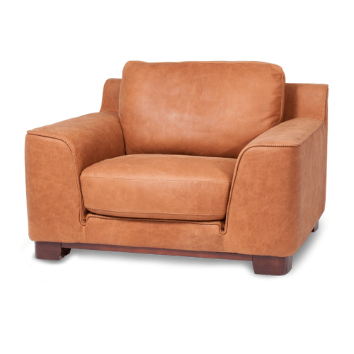 Nafelli Leather Chair in Clay Espresso