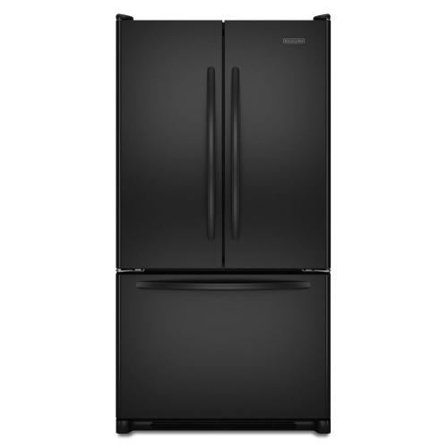 Standard-Depth French Door Bottom Mount Refrigerator 24.8 cu. ft. - Black