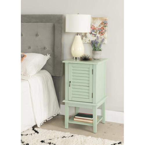 1-door With Interior Shelf Table, Aqua