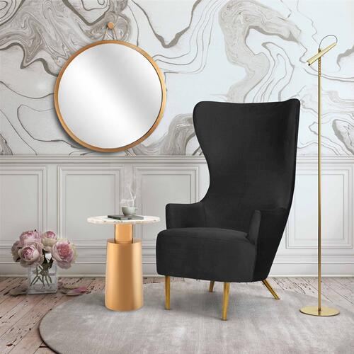 Tov Furniture - Julia Black Wingback Chair by Inspire Me! Home Decor