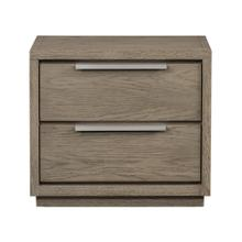 Modrest Samson - Contemporary Grey and Silver Nightstand