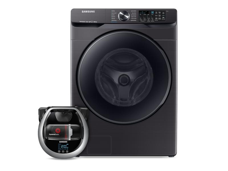 SamsungWi-Fi Connected Front Load Washer With Super Speed And Pet Plus Robot Vacuum