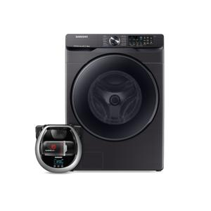 Samsung Appliances  Wi-Fi Connected Front load washer with Super Speed and Pet Plus Robot vacuum
