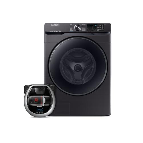Product Image - Wi-Fi Connected Front load washer with Super Speed and Pet Plus Robot vacuum