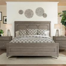 Dara Two - King Panel Bed - Gray Wash Finish