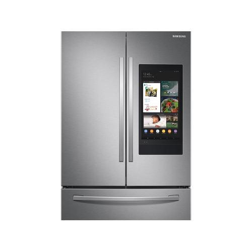 Samsung - 28 cu. ft. 3-Door French Door Refrigerator with Family Hub™ in Stainless Steel
