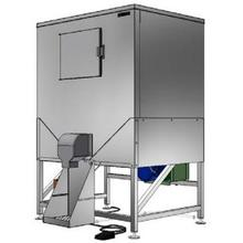 """HCD-1000B, 48"""" W Ice Bagging System with 1078 lbs Capacity - Stainless Steel Exterior"""