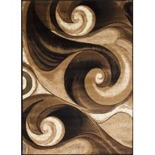 See Details - DA-410 CHOCOLATE Abstract Wave Rug