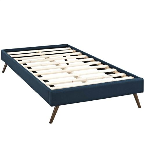 Modway - Loryn Twin Fabric Bed Frame with Round Splayed Legs in Azure