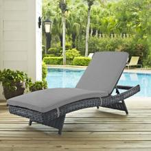 Summon Outdoor Patio Sunbrella® Chaise in Canvas Gray