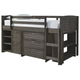 See Details - Caitbrook Twin Loft Bed With 1 Large Storage Drawer