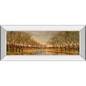 """Twilight On The River"" By Carson Mirror Framed Print Wall Art"