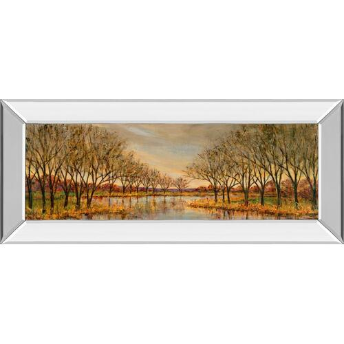 "Classy Art - ""Twilight On The River"" By Carson Mirror Framed Print Wall Art"